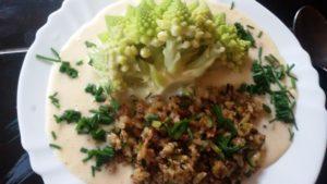 Romanesco mit Reis