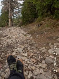 Das ideale Gelände zun Trainieren der Füße - hier am Ještěd Tschechei